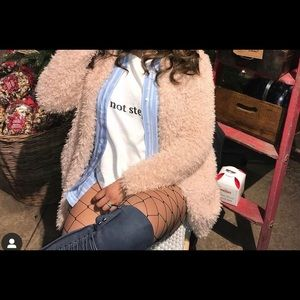 WINDSOR | Faux Fur Pink Beige Jacket